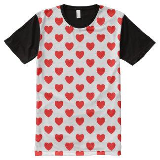 Copie de coeur partout sur le T-shirt