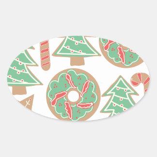 Copie de cuisson de Noël Sticker Ovale