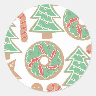Copie de cuisson de Noël Sticker Rond