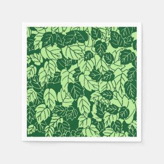 Copie de feuille, émeraude et vert de chaux serviettes jetables