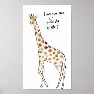 Copie de girafe de point de polka de typographie