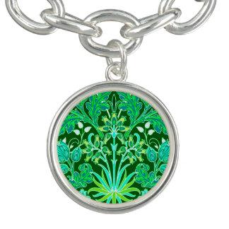 Copie de jacinthe de William Morris, vert vert Bracelets