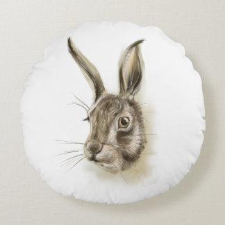 Copie de lapin sur le coussin rond