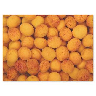 Copie de papier de soie de soie avec les abricots