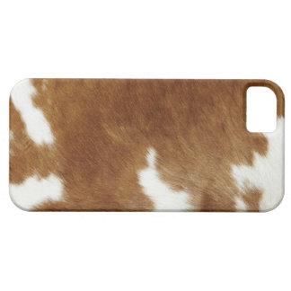 Copie de peau de vache de Brown Étuis iPhone 5