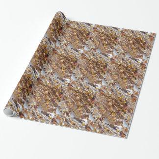 Copie de perles de tons de la terre de papier papier cadeau