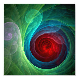 Copie de photo d'art abstrait de Red Storm