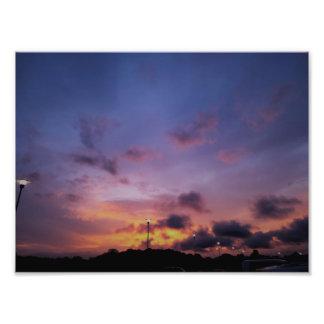 Copie de photo de beaux-arts de coucher du soleil