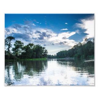 Copie de photo de vue de rivière d'après-midi