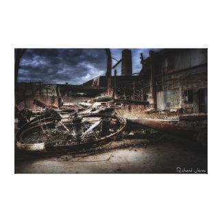 Copie de photographie de beaux-arts - 'Bike brûlé Toiles
