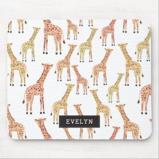 Copie de safari de girafe tapis de souris