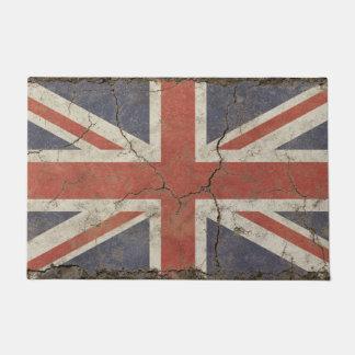 Copie de tapis de porte avec le drapeau vintage de