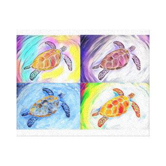 Copie de toile d'aquarelle de tortue de mer
