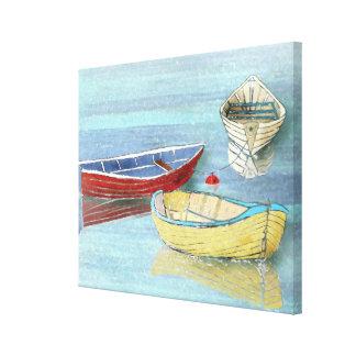 Copie de toile de bateaux d'été au repos toile