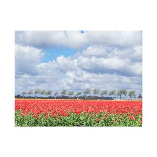 Copie de toile de champs de tulipe