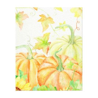 Copie de toile de citrouilles d'aquarelle