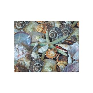 Copie de toile de coquillages de gemmes d'océan