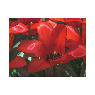 Copie de toile de fleurs de rouge