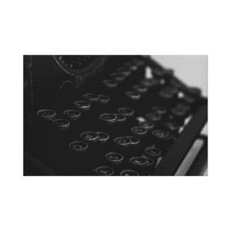 Copie de toile de machine à écrire - B&W moderne