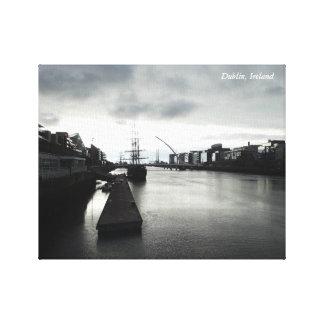 Copie de toile de quartiers des docks de Dublin