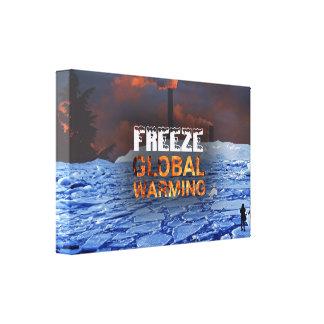 Copie de toile de réchauffement climatique de gel