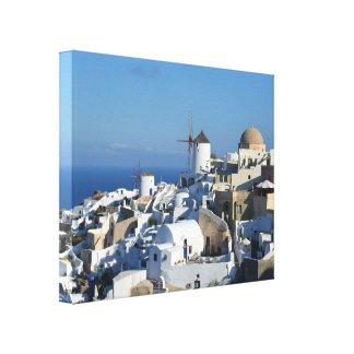 Copie de toile de Santorini de moulins à vent