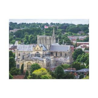 Copie de toile de vue de cathédrale de Winchester