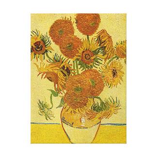 """Copie de toile des """"tournesols"""" de Vincent van Gog"""