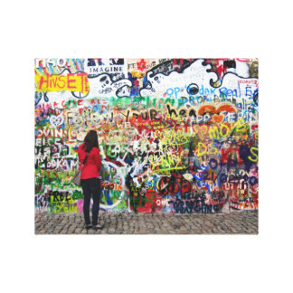 Copie de toile - mur de John Lennon, Prague