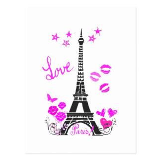 COPIE DE TOUR EIFFEL DE PARIS D'AMOUR CARTES POSTALES