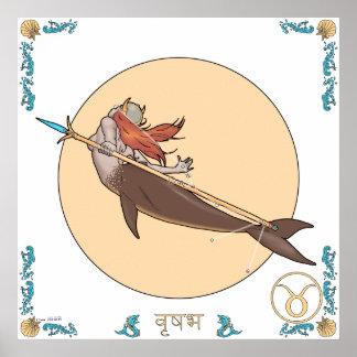 Copie de zodiaque de sirène - Taureau