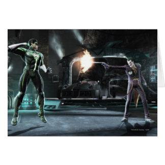 Copie d'écran : Lanterne verte contre le joker Carte