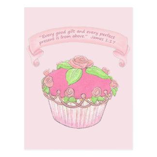 Copie d'écriture sainte de cadeau de Cupcake~Good Carte Postale