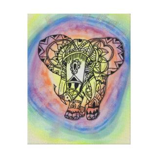 Copie d'éléphant d'arc-en-ciel toiles