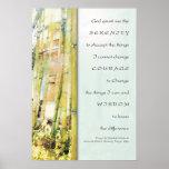 Copie en bambou de jardin de prière de sérénité posters