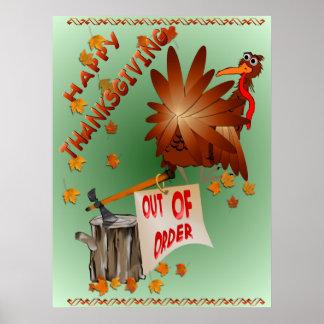 Copie en panne heureuse de thanksgiving poster