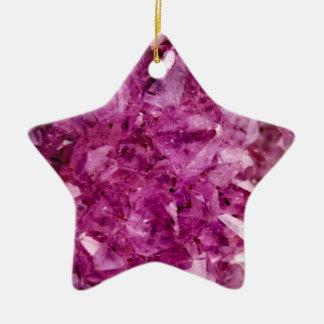 Copie en pierre en cristal d'améthyste pourpre ornement étoile en céramique
