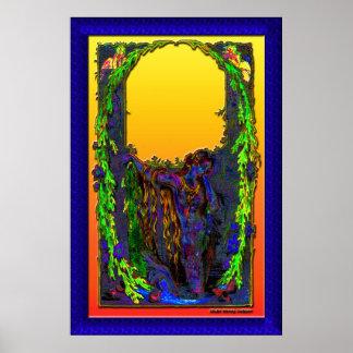 Copie florale de lever de soleil de sirène