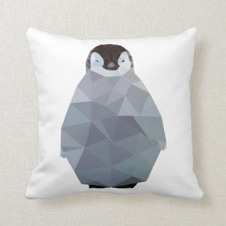 Copie géométrique de pingouin de bébé coussin décoratif