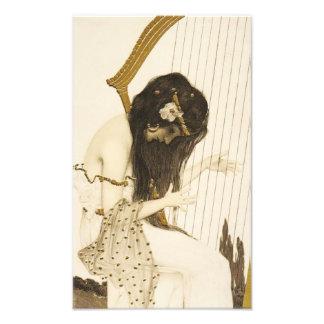 Copie grecque vintage de photo de harpiste