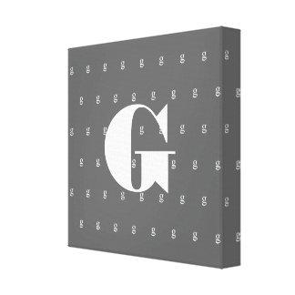 Copie grise de toile de monogramme avec la lettre  toiles