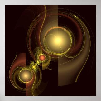 Copie intime d'art abstrait de connexion poster