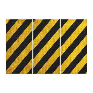 Copie jaune et noire de toile de la rayure 3-Part