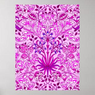 Copie, lavande et violette de jacinthe de William Poster