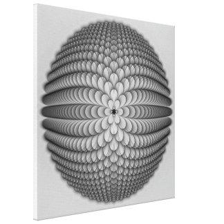 Copie monochrome de toile de sphère
