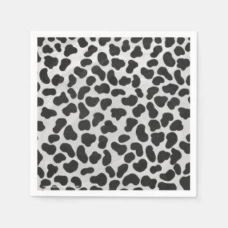 Copie noire et blanche dalmatienne serviette jetable