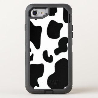 Copie noire et blanche de vache coque OtterBox defender iPhone 8/7