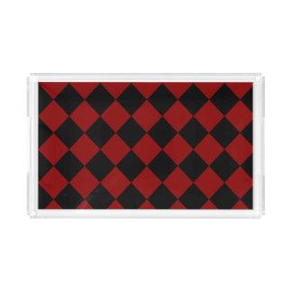 Copie noire et rouge de contrôleur de diamant plateau en acrylique