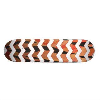 Copie orange de tigre de Chevron et noire chaude Plateaux De Skateboards Customisés
