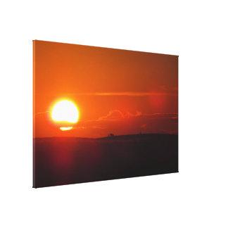 Copie orange de toile de coucher du soleil
